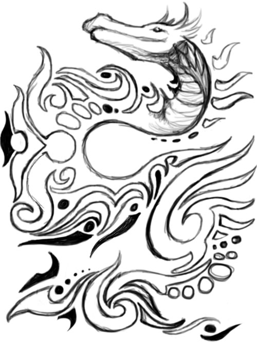 tribal dragon wallpaper. Tribal Dragon Design P