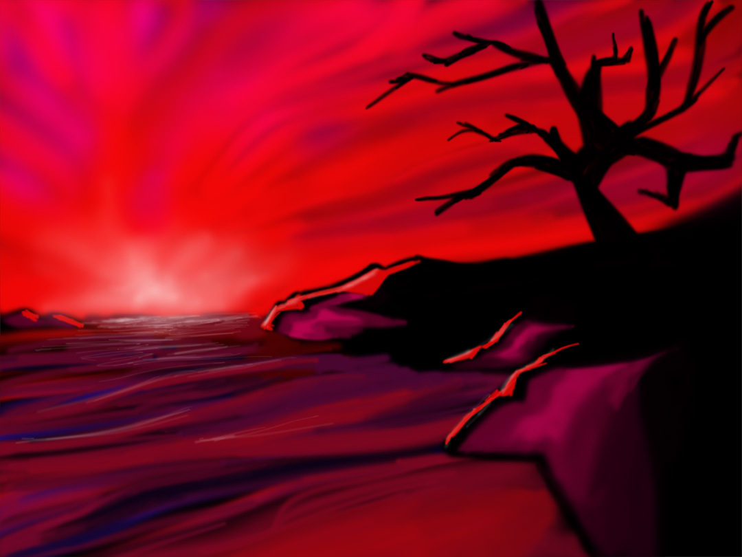 Red Sunset Painting Images Galleries