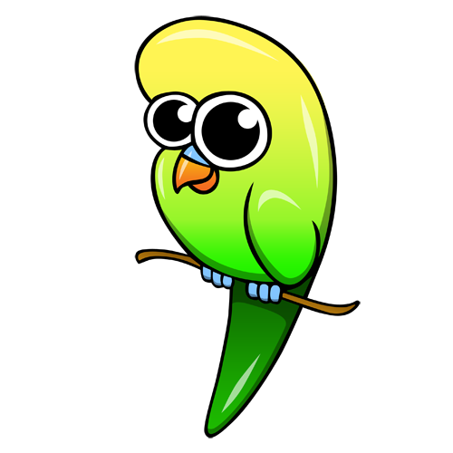 cartoon_budgie_by_claytonkashuba