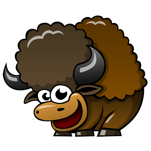 cartoon_buffalo_by_claytonkashuba