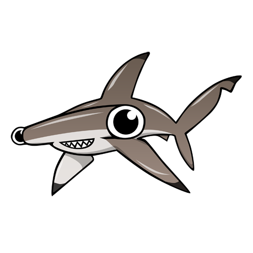 cartoon_hammerhead_by_claytonkashuba