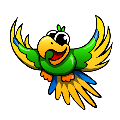 cartoon_parrot_by_claytonkashuba