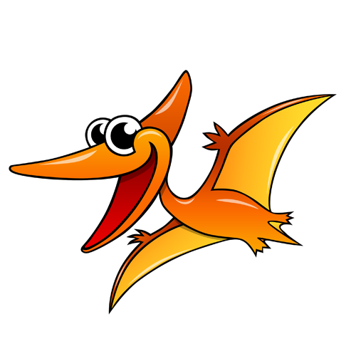 cartoon_pterodactyl_by_claytonkashuba
